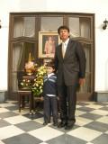 Kitisak and Rahil at the Thai embassy celebrating the King's birthday