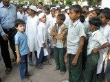Crowded day at the Sabarmati Ashram
