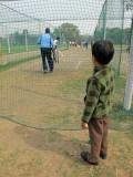 Cricket practice.