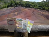 Three Small Books visit the Seven Colored Sands of Mauritius in September of 2012