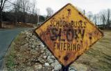 School Buses Slow Entering Suffield MA.jpg