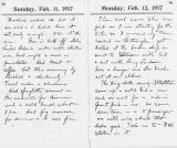 Two pages from King's 1917 diary