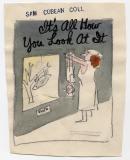 Sam Cobean (c. 1950) (4 x. 5, watercolor on paper)