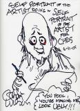 Gahan Wilson Self-Portrait (2005) (9 x 11, ink)