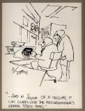 Sidney Harris (ink, 8 x 10, c. 1978)