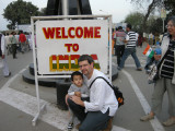 Rahil and Dad at the Wagah border