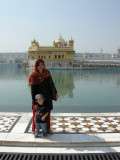 With Mom at the Golden Temple