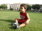 On the Nehru Museum lawn