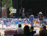 Joe Craven welcomes folks to Live Oak 2009