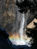 Upper Yosemite Falls pool and rainbow