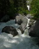 Raging river below Vernal Fall