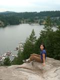 Baden-Powell trail overlooking Deep Cove