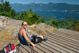Mt. Gardner summit - catching some rays