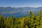 Mt. Gardner summit - view to the Sunshine Coast