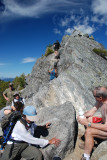 Crown Mountain summit - trying to get down!
