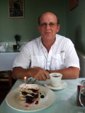 Bob's birthday dessert; a blackberry Napoleon