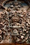 Vishnu in the form of the lion Narasimha ripping the chest of the king of the asuras Hiranyakasipu