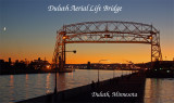 Duluth Aerial Lift Bridge with moon
