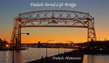 Duluth Aerial Lift Bridge sunset