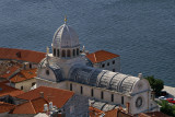 Šibenik - Cathedral of St James, from the fortress