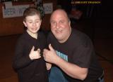 Tallan Latz the 8 year old guitarist and S.I.'s Kurt Swanson