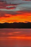 Sunset at Kaengkrachan dam