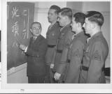 Dad taking Japanese language class
