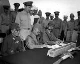 Japs surrendering on the USS Missouri