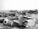 Wrecked Jap airfield on Okinawa