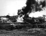 Flamethrowing tank on Okinawa