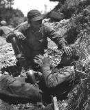 Marine calms buddy whose friend was just killed on Okinawa