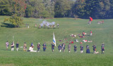 A skirmish between the Colonials and the Red Coats ...