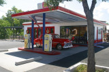 A Restored 1950-vintage Gas Station
