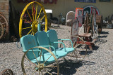 Could you use these three mobile chairs ... perhaps hitch them to your buckboard wagon ...
