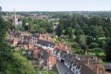 The Village below  Warwick Castle's Walls