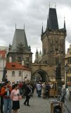 At the end of Charles Bridge ...