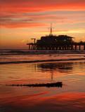 Santa Monica pier at twilight