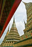 Wide angle view of Wat Pho, Bangkok