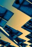 Solar energy panels in clear sky