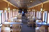 Spirit of Jasper Dining Car Interior