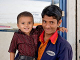 Gas Station Attendant & Son