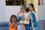 Family at Hindu Festival