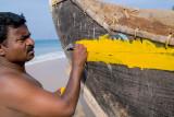 Fisherman Painting Boat