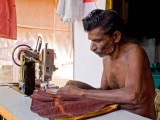 Tailor Sewing my Dhoti