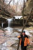 DeWayne poses at the Falls