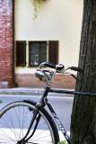 Bike outside Abbazia di Morimondo