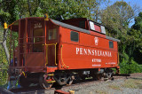 Red Hill, VA on the NS main and restored PRR N5B cabin car