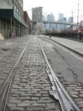 Dumbo, Brooklyn - Down Under Manhattan Bridge Overpass and Brooklyn Bridge New York NY NYC