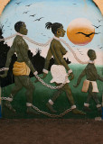 Slave Mural on the wall of the Slavery Museum @ Juffureh
