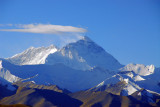 Mount Everest 8848m (29,028ft) and Lhotse 8516 metres (27,940 ft), 60 km from the summit of Pang-la Pass